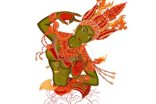 apsara dance pose