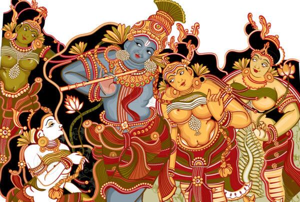 Krishnaleela illustration