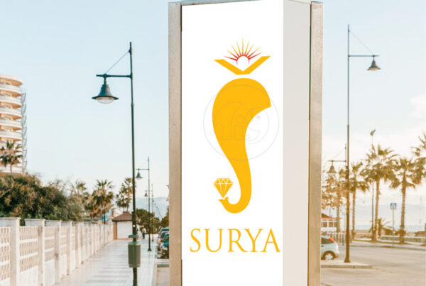 Surya Jewellery logo design