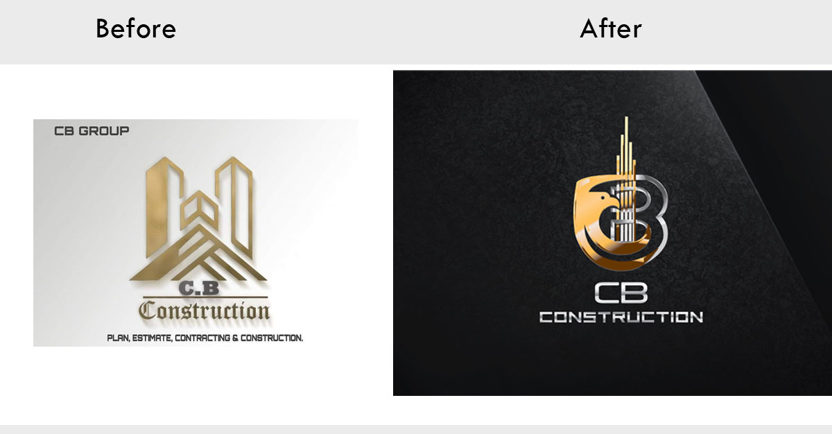 CB Construction Logo Re Designing
