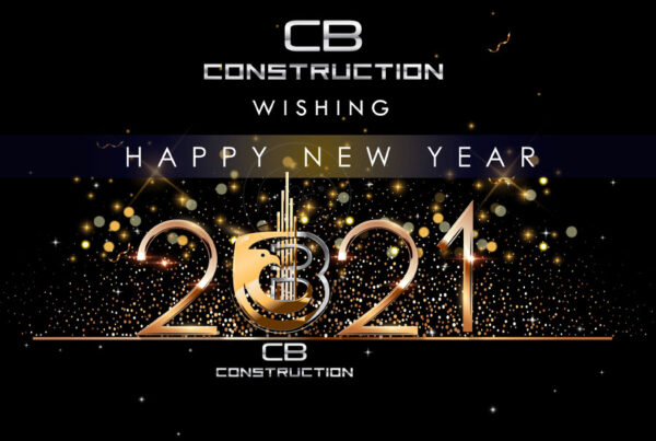 New Year Poster Design CB Construction Palode