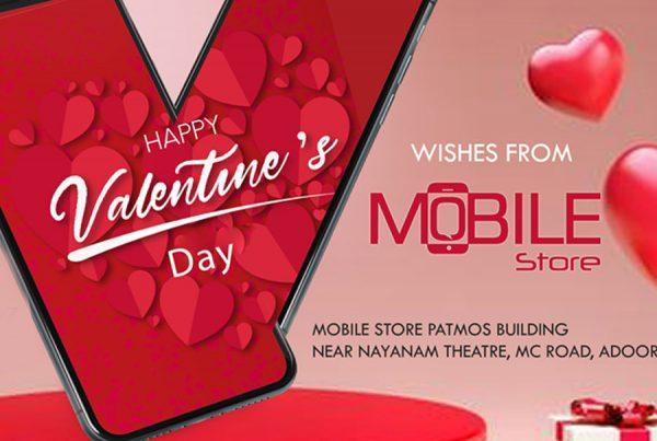 Valentine's mobile store Design